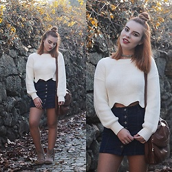 Carina Gonçalves - Gamiss Sweater, Choies Skirt, El Corte Ingles Boots - I might not be flawless, but you know I got a diamond heart