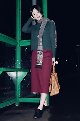 Yueming - Hm Top, Uniqlo Skirt, Aldo Bag, Topshop Earrings - Merry Christmas