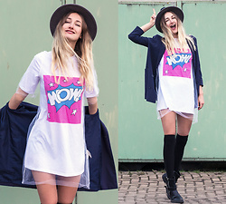 Eva Velt - Girlmerry Shirtdress, Pieces Hat, Monki Blazer - Wow