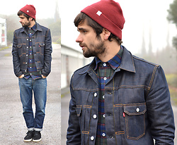 Boris Cornilleau - Levi's® Trucker Jacket, A.P.C. Washed Jeans - Denim