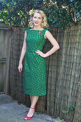 Kayla J - Made By Me Christmas Dress 1950s - Christmas Dress