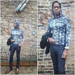 Thomas G - Levi's 510 Strauss & Co, Party Hooded Long Sleeve Shirt, Kenneth Cole Dress Shoes, Xhilaration Faux Leather - Cross & Strauss Effect