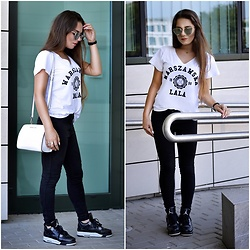 Sandra Kopko - Plny Lala T Shirt, Michael Kors Bag, Pull & Bear Pants, Daniel Wellington Watch, Jordan Iv Shoes - Warsaw lala