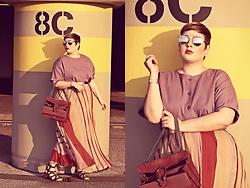 Luciana Blümlein - H&M Skirt, Dolce & Gabbana Sandals, Gucci Bag, Dior Sunglasses, Dior Earrings, Hermès Bracelet - • Calm before the Storm •