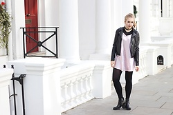 Karolina Tworkowska - Mohito Leather Jacket, Sh Pink Dress - Notting Hill whites