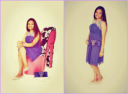 Luxshana Shoghikaran -  - Classy Purple Dress, Photo Shoot