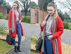 Charlotte . - Zara, Michael Kors, Romwe - Red coat