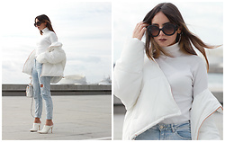 Bárbara Marques - Zara Coat, Bershka Jeans, Suiteblanco Heels, Michael Kors Bag, Prada Sunglasses - Can't cope