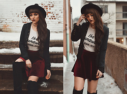 Indiefoxx - Junk Food Clothing Tee, Free People Blazer - Rock and Roll Holiday