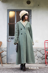 Ping Chiu Armando -  - Green Wool Coat