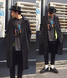 ★masaki★ - Newyork Hat Coachman, Komakino Overcoat, David Bowie Let's Dance, The/End Blacktightpants, Georgecox Limited Tassel - Japanese trash style 74