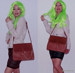 Hanna From HOLLAND - Shein Bag - Green hair & brown bag - It's super, babies!