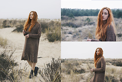 Karole Josefa Bonnet - Stylewe Dress, Asos Boots - Oversized dress by StyleWe