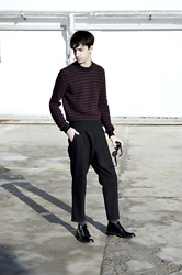 Fabio G. - Prada Sweater, Weekday Trousers, Saint Laurent Boots - New start