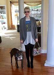 Shannon D - Vintage Johnny Cash Tee, Net A Porter Grey Jacket, Gucci Bag, Stuart Weitzman Thigh High Boots, Epokhe Dylan Reider Style Sunglasses, Vintage Necklace - Walk The Line