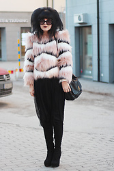 Panda . - Prada Sunglasses, Ivyrevel Faux Fur, Marc By Jacobs Bag, Zara Skirt, Scorett Shoes - IVYREVEL FAUX FUR