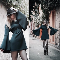 Diamond & Peonie - Zara Dress, H&M Hm Boots, Stetson Hat - My blue day