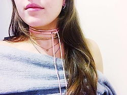 Holly Benjamin - Ettika Wrap Choker, Urban Outfitters Off The Shoulder Top - Necklace Game