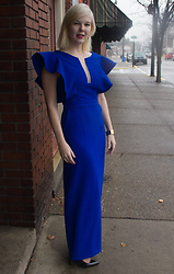 Bree Fesh - Stylewe Blue Dress, Louis Vuitton Gold Cuff, Christian Louboutin Black Heels - Empire State Of Mind