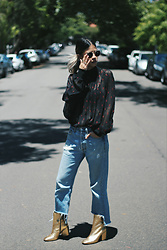 Leanne Pak - Country Road Top, Urban Outfitters Renewal Jeans, Mango Rocro Boots In Oro - THE MIND'S PARADISE 2.0
