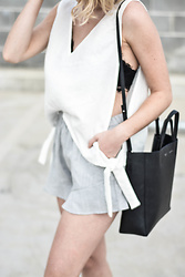 Madelene McGuinness - Staple The Label Top, Staple The Label Shorts, Céline Cabas Tote - SUMMER UNIFORM