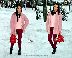 Natalia Uliasz - Chicme Pants, Zaful Backpack, Dresslink Pink Fur - The perfect combination