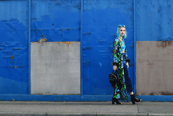 Sophie Hannah Richardson - Isolated Heroes Kimono, Sparkl Fairy Sequin Top, Boohoo Culottes, Skinny Dip Backpack - BLUE GLITTER