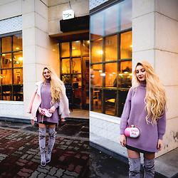 ♡Anita Kurkach♡ - Sheinside Bag, Wholesale7 Coat - PINK MOOD