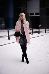Vanessa Kandzia - Over The Knee Boots, Coat - THE PERFECT PINK COAT