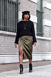 Monroe Steele - Zaful Top, 3.1 Phillip Lim Skirt, Lys Boot Alexander Wang, H&M Hat - I Refuse to Wear Stockings