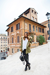 Larisa Costea - Chicwish Parka, Shein Ripped Jeans, Shein Black Choker - Back to work