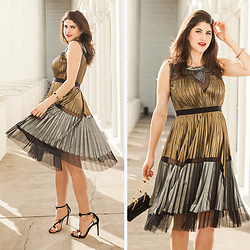 Laura Yazdi -  - Metallic Pleats