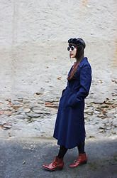 Ping Chiu Armando - Trench Coat - Midnight Blue