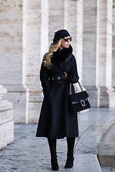 Meagan Brandon -  - All Black Winter Outfit