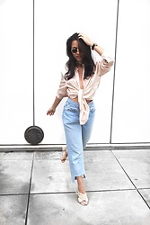 Alexandra Lord - 81 Hours Silk Blouse, Levi's® Jeans, Forever 21 Suede Mules, Ray Ban Hexagonal Lenses - NEW YEAR, SAME ME, MORE SLAY