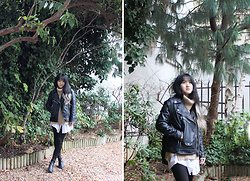 Bethery Yang - H&M Black Leather Jacket - The Clouds Are Coming In