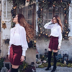 Cristina Gheiceanu - Sheinside Blouse, Sheinside Skirt - Romantic mood
