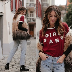 Kiara Schwartz - Eleven Paris Tee, Willow And Clay Vest, Levis Denim - Girl Gang