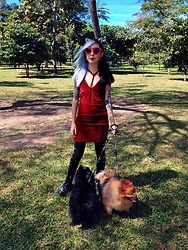 NaTyMeTaL - Legrand Leseur Sunglasses, Dresslink Velvet Dress, Dr Martens - A day at the park