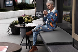 Krist Elle - Simplee Apparel Embroidered Denim Jacket, Simplee Apparel Embroidered Jeans - How to Wear the Embroidery Trend