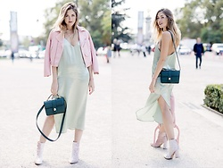 Amy Ramírez - Mango Dress, Asos Ankle Boots, Zara Jacket - Pastel colours