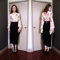 Raquel Teichroeb - Forever 21 Top, Black Skirt, Patented Platformheels - I Wanna Be Adored