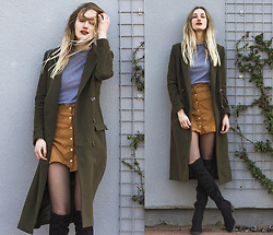 Eva Velt - Missguided Coat, Chicme Sweater, Chicme Skirt, Asos Boots - Darker tones