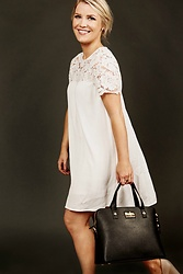 Olivia B. - H&M White Dress, Parker Handbags Purse - How Your Purse Can Save Your Life - Now On The Blog