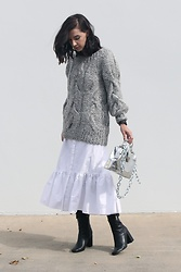 ASH -  - Sweater Over Dress Over Pants