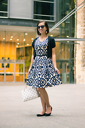 "Lindsey Puls - Lilee Yamanto Dress, Chinese Laundry Wedges, Kate Spade Purse - A Very ""Me"" Outfit"