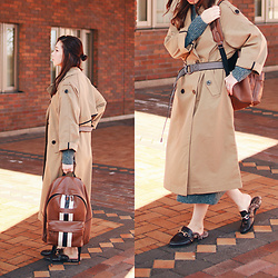 Mizuho K - Zaful Trench Coat, Coach Backpack, Xoxohilamee More Details On - 2017/01/03