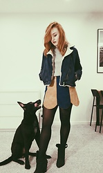 Kama Kogut - Zara Boots, Topshop Denim Jacket - DOG MOM
