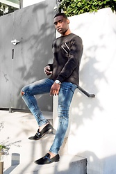 Willie Sparks - Boohoo Sweater, H&M Denim, Zara Shoes - Casual Day