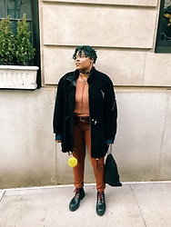 Beoncia Dunn - Urban Outfitters Ss Long Line Shirt, Uniqlo Rust Heat Tech Jeggings, Zara Water Proof Hiking Boots, Givenchy Shoe Bag, Zara Velvet Star Tie Choker, Soho Street Shop Fur Ball, Ralph Lauren Geniune Leather Western Belt, Manic Panic Midnight Blue Vegan Hair Color - N O || L A B E L ||| J U S T || B E O N C i A